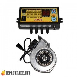Комплект автоматики для котлов на твердом топливе KOM-STER ATOS + вентилятор WPA-117