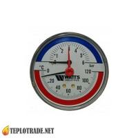 Термоманометр WATTS F+R818 TIM80 0-120 °C/0-6 Bar