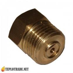 """Запорный клапан переходник для манометра G 1/4"""" - G 1/2"""""""