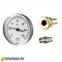 Датчик температуры для котла отопления CEWAL PST 63P 0-120 °C, Ø63mm