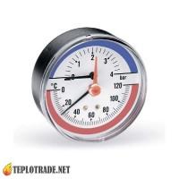 Термоманометр WATTS F+R818 TIM80 0-120 °C/0-4 Bar