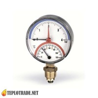 Термоманометр WATTS F+R828 TIRM80 0-120 °C/0-4 Bar